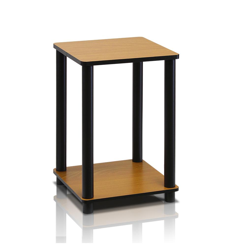 Furinno turn n tube light cherry simple end table 99800r for Simple end table