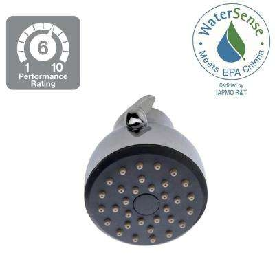 Eco-Pfriendly 6-Spray 2.7 in. Fixed Shower Head in Polished Chrome