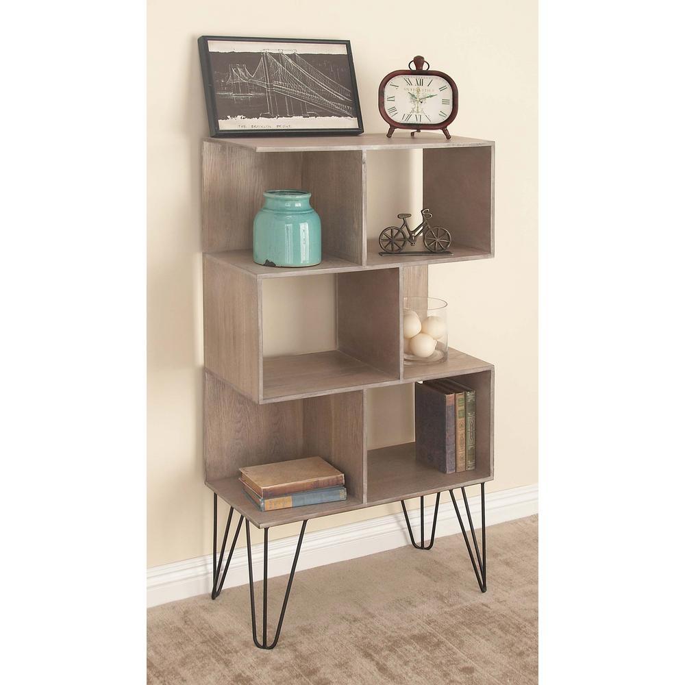 47 in. x 26 in Modern Cube-Type Wooden Shelf