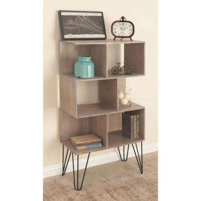 47 in. x 26 in Modern Cube-Type Wooden Shelf