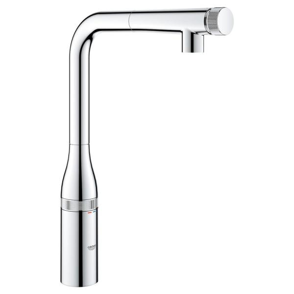 Essence Smartcontrol Single-Handle Pull-Out Sprayer Kitchen Faucet in StarLight Chrome