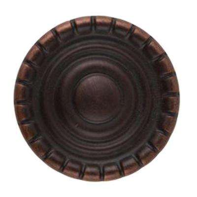 Laurel 1-1/4 in. Aged Bronze Round Cabinet Knob