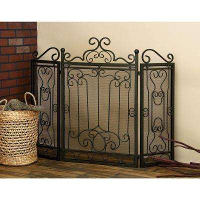 48 in. x 38 in. Metal Fireplace Screen