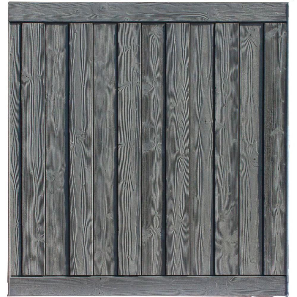Ashland 6 ft. H x 6 ft. W Nantucket Gray Composite