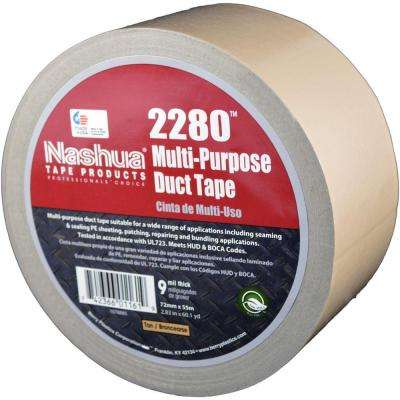 2.83 in. x 60.1 yds. 2280 Multi-Purpose Duct Tape in Tan
