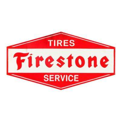 Tires and Service Rustic Embossed Tin Decorative Sign