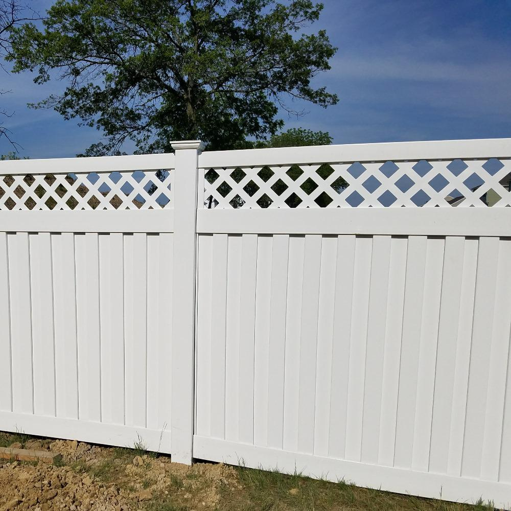Vinyl Privacy Fence Panel Kit Uv Protected Water Resistant