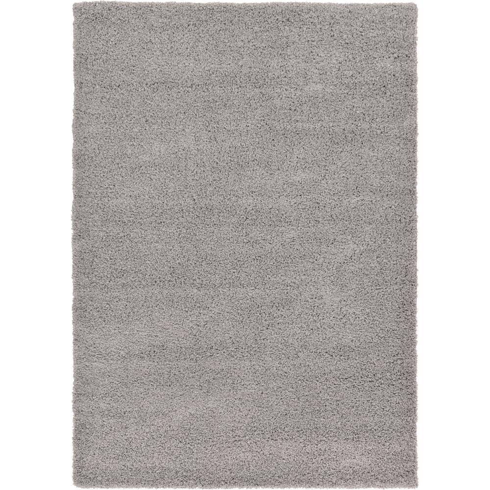 Unique Loom Solid Shag Taupe 7 Ft X 10 Ft Area Rug