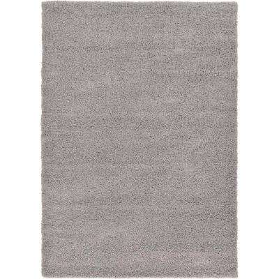 Solid Shag Cloud Gray 7 ft. x 10 ft. Area Rug