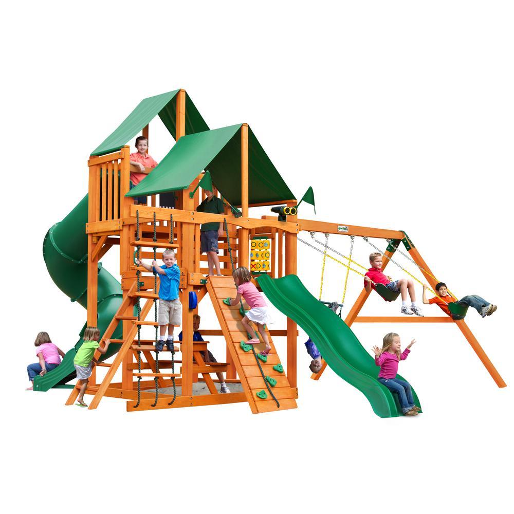 Gorilla Playsets Great Skye I Cedar Swing Set With Green
