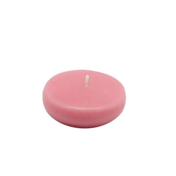 Light Rose Zest Candle 12-Piece Floating Candles 3-Inch