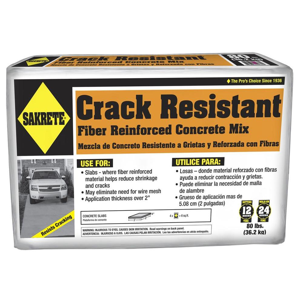 Sakrete 80 Lb Crack Resistant Concrete Mix 65201090 The