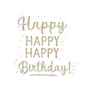 Multicolor Hiest Birthday Wall Decal