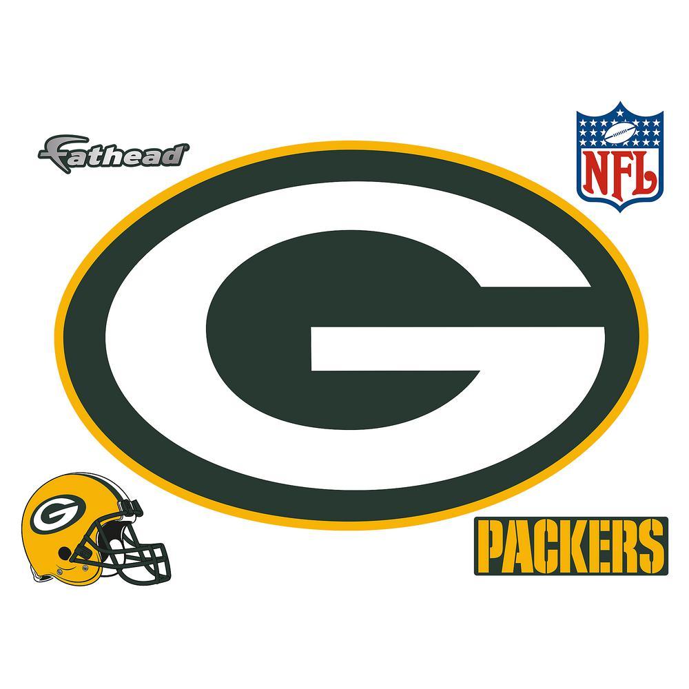 33 in. H x 50 in. W Green Packers Logo Wall