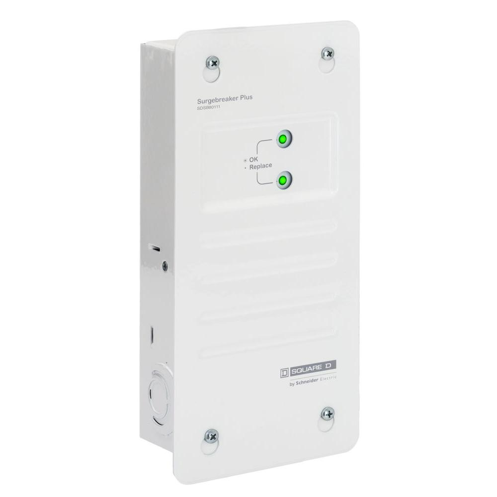 Square D 80 kA Surge Breaker Plus Whole Home Surge Protector