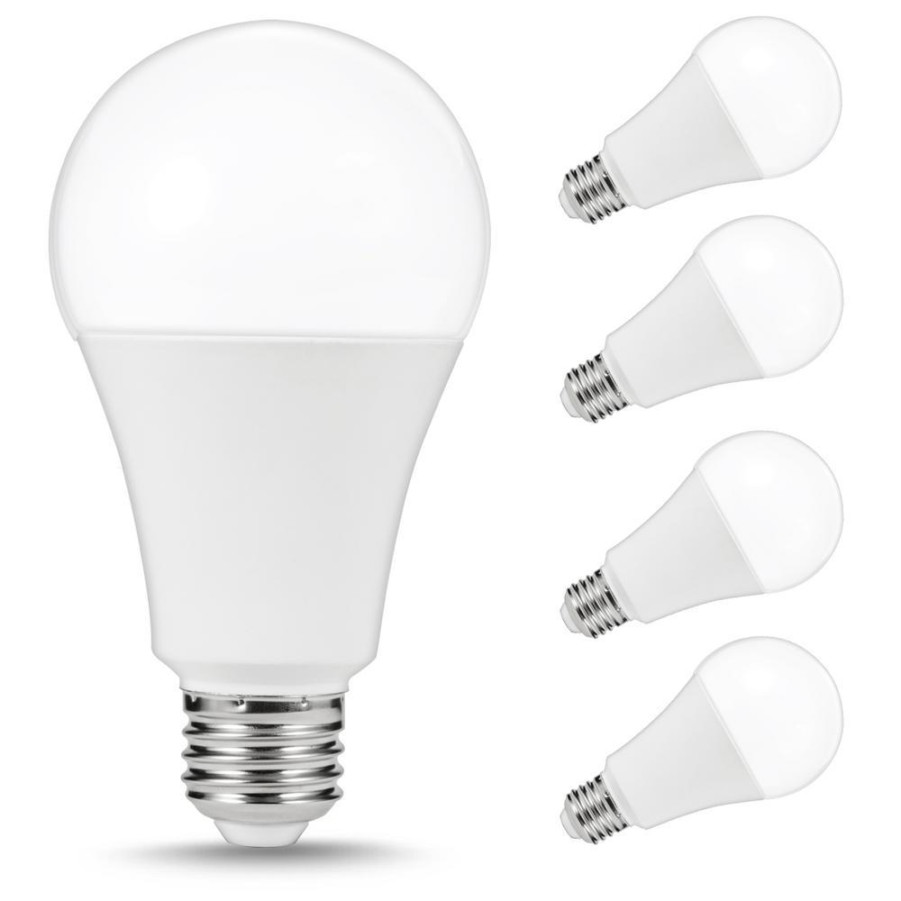150-200-Watt Equivalent A21 23-Watt LED Light Bulbs E26 Base 3000K Warm White (4-Pack)