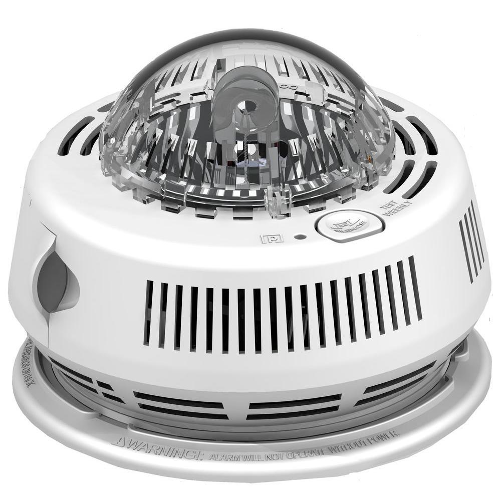 BRK Photo-Electric Hardwired Smoke Detector with Strobe Light Alarm