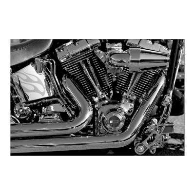 "47 in. x 32 in. ""American Muscle"" Tempered Glass Wall Art"