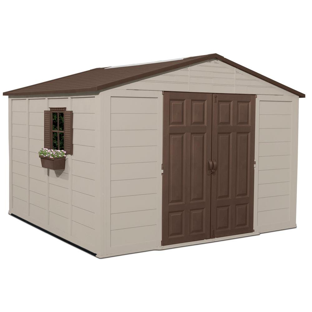 Suncast 10 ft. 4 in. x 10 ft. 5 in. Resin Storage Shed