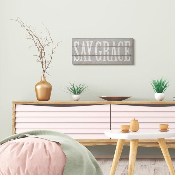 Stupell Industries 10 In X 24 In Say Grace Neutral Wood Textured Word By Stephanie Workman Marrott Canvas Wall Art Fwp 261 Cn 10x24 The Home Depot