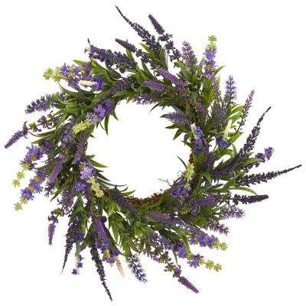 18 in. Lavender Wreath