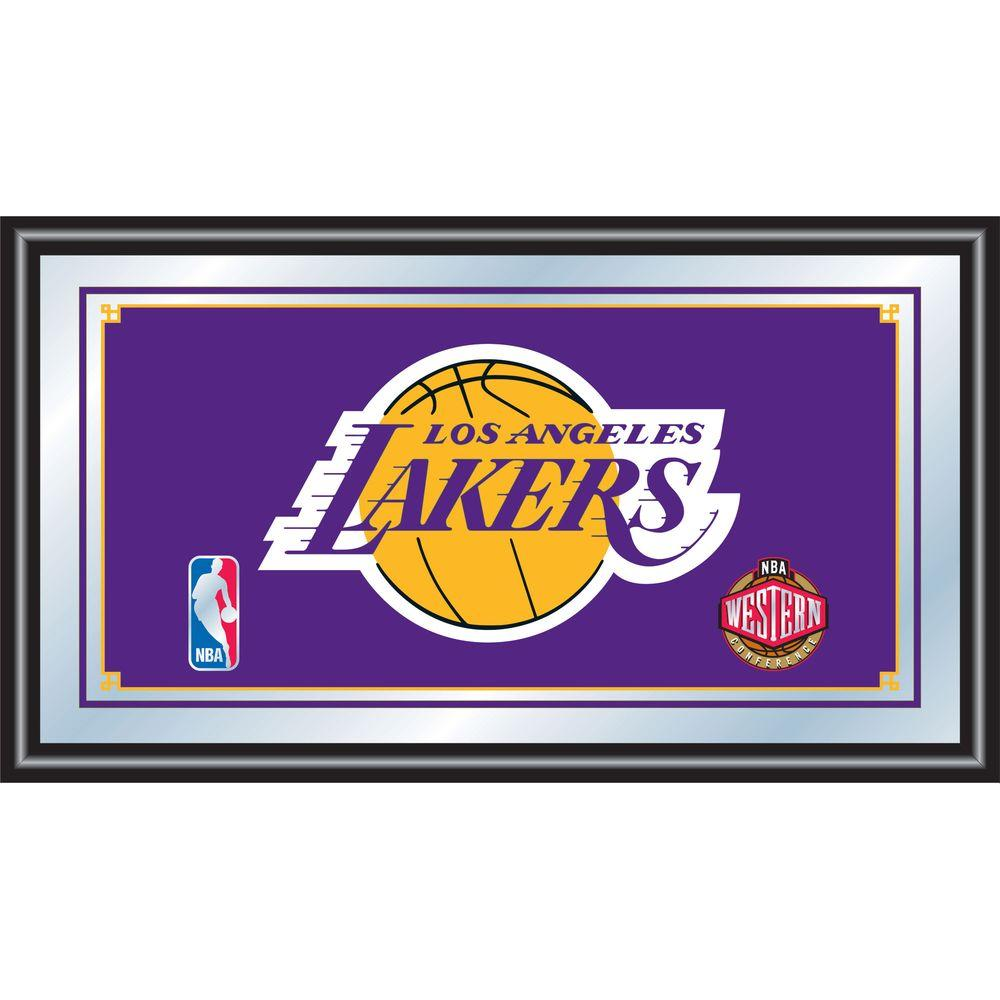 Los Angeles Lakers NBA 15 in. x 26 in. Black Wood