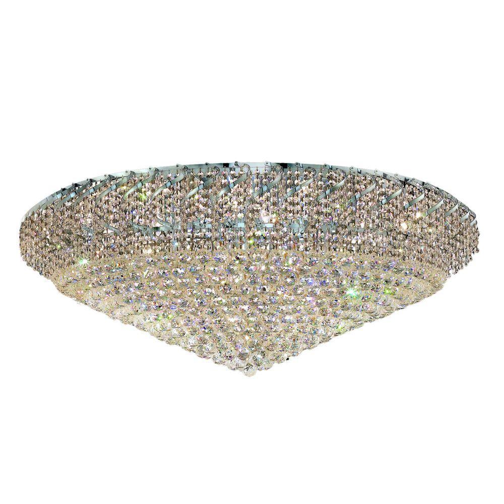 Elegant Lighting 36-Light Gold Flushmount with Clear Crystal