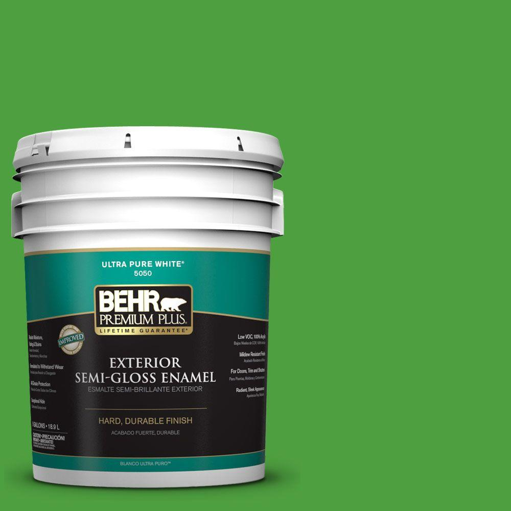 5-gal. #S-G-440 Green Acres Semi-Gloss Enamel Exterior Paint
