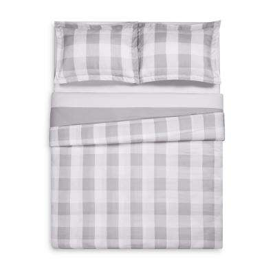 Everyday Buffalo Plaid Grey Twin XL Duvet Set