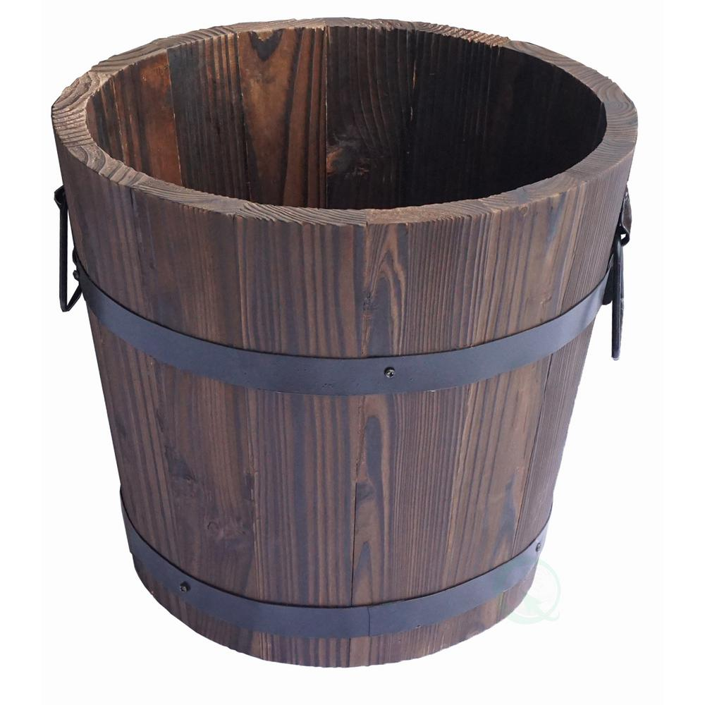 12 in. H x 14.5 in. Dia Extra Large Wooden Whiskey Barrel...