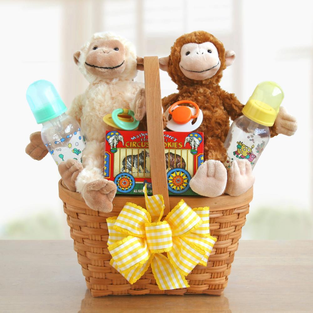 2-Little Monkeys New Baby Basket