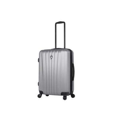 Magari 24 in. Silver Hard Side Spinner Suitcase