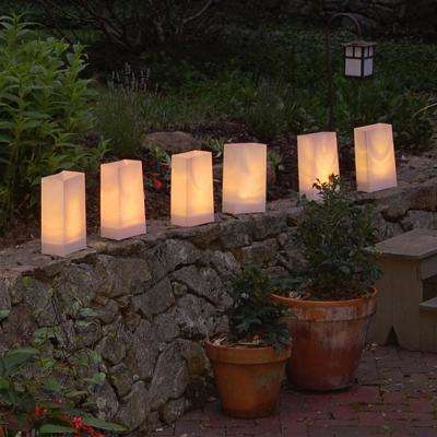 Electric LED Luminaria Kit- Tan (6-Count)