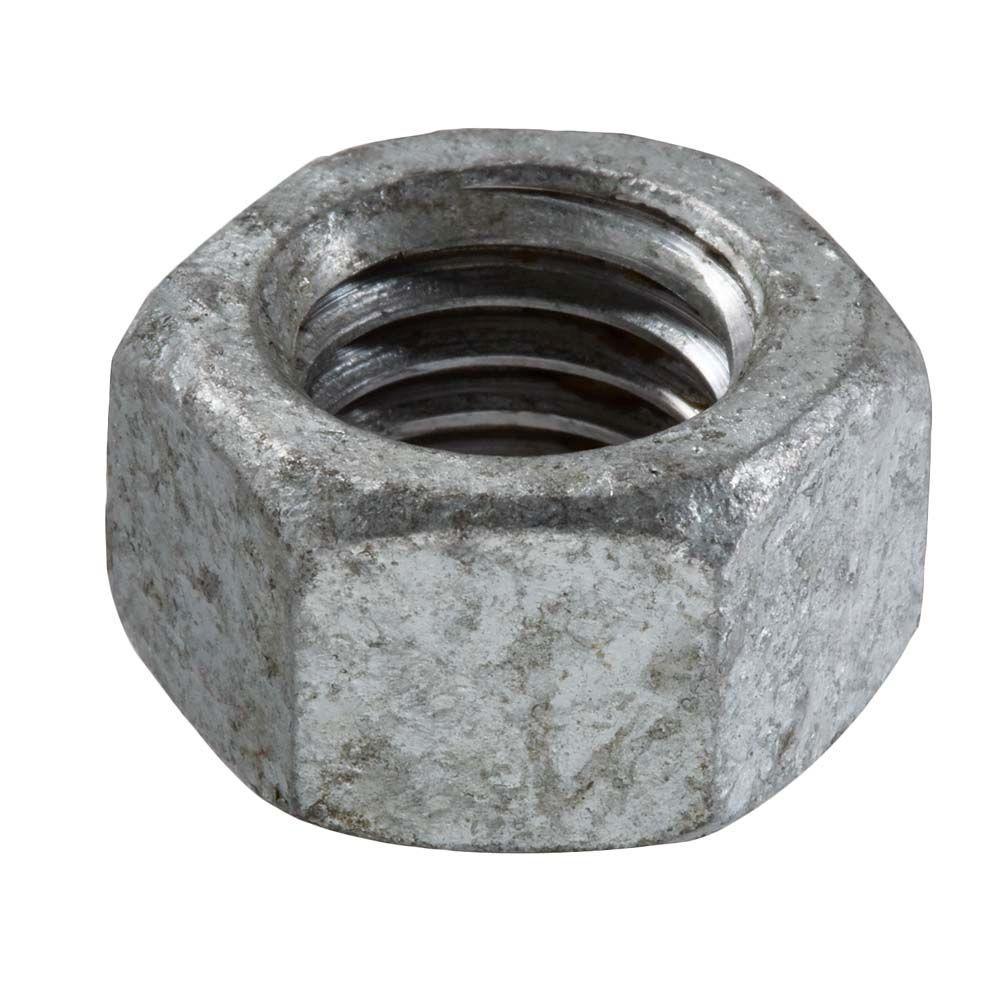 Everbilt 3/4 in.-10 Thread Pitch Galvanized Hex Nut (10-Piece/Box)