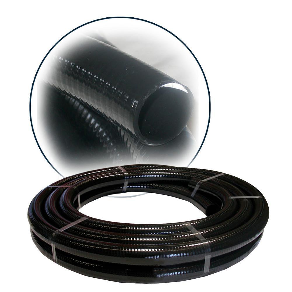 2 in. ID x 25 ft. PVC Flex Hose in Black