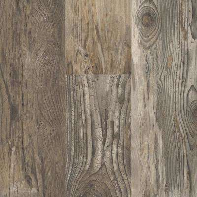 Reclaimed Wood Grey 8 in. Wide x 48 in. Length Click Floating luxury vinyl plank flooring (18.22 sq. ft./case)