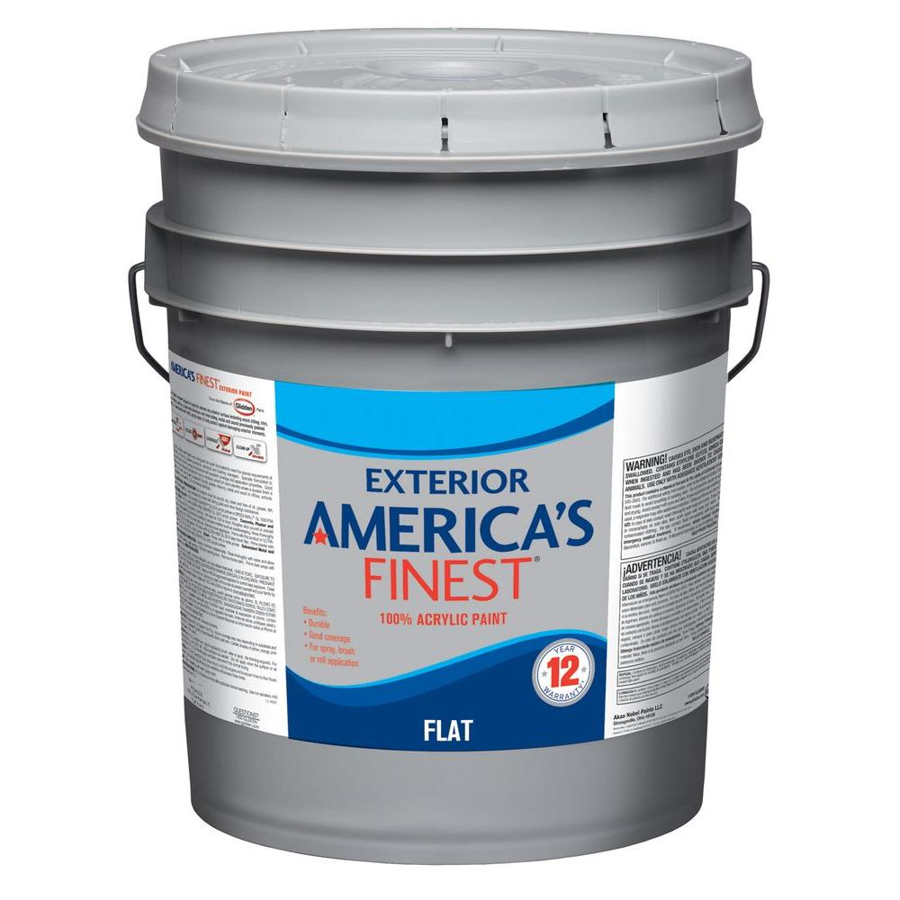 Exterior Paint Colors Home Depot: America's Finest 5 Gal. Flat Latex Light Colors Exterior