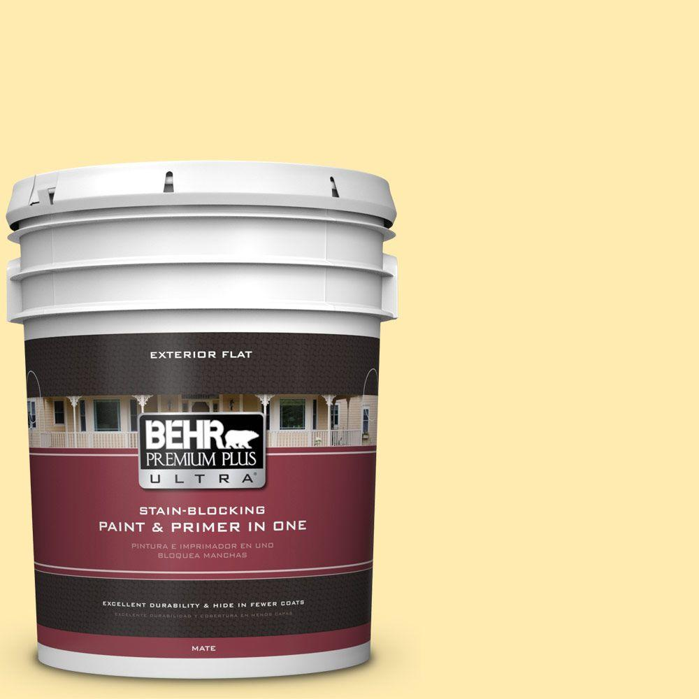 BEHR Premium Plus Ultra 5-gal. #360A-3 Banana Split Flat Exterior Paint