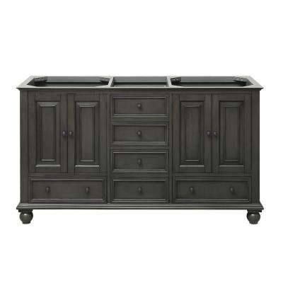 Thompson 60 in. W x 21 in. D x 34 in. H Vanity Cabinet in Charcoal Glaze