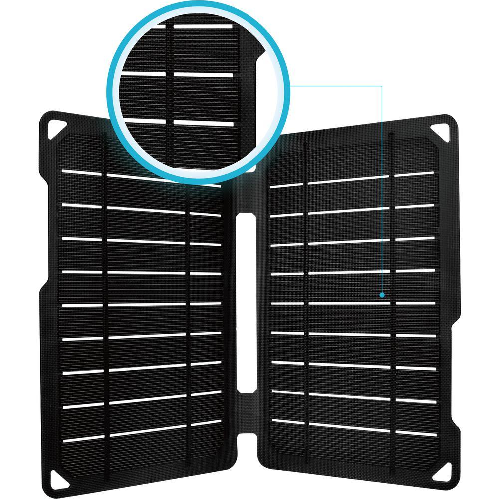E.Flex 10-Watt Portable Monocrystalline Solar Panel with USB Port