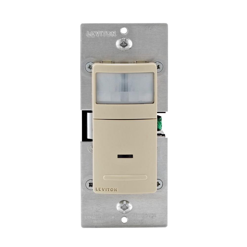 Decora Motion Sensor In Wall Switch Auto On 2 5 A Single Pole Ivory