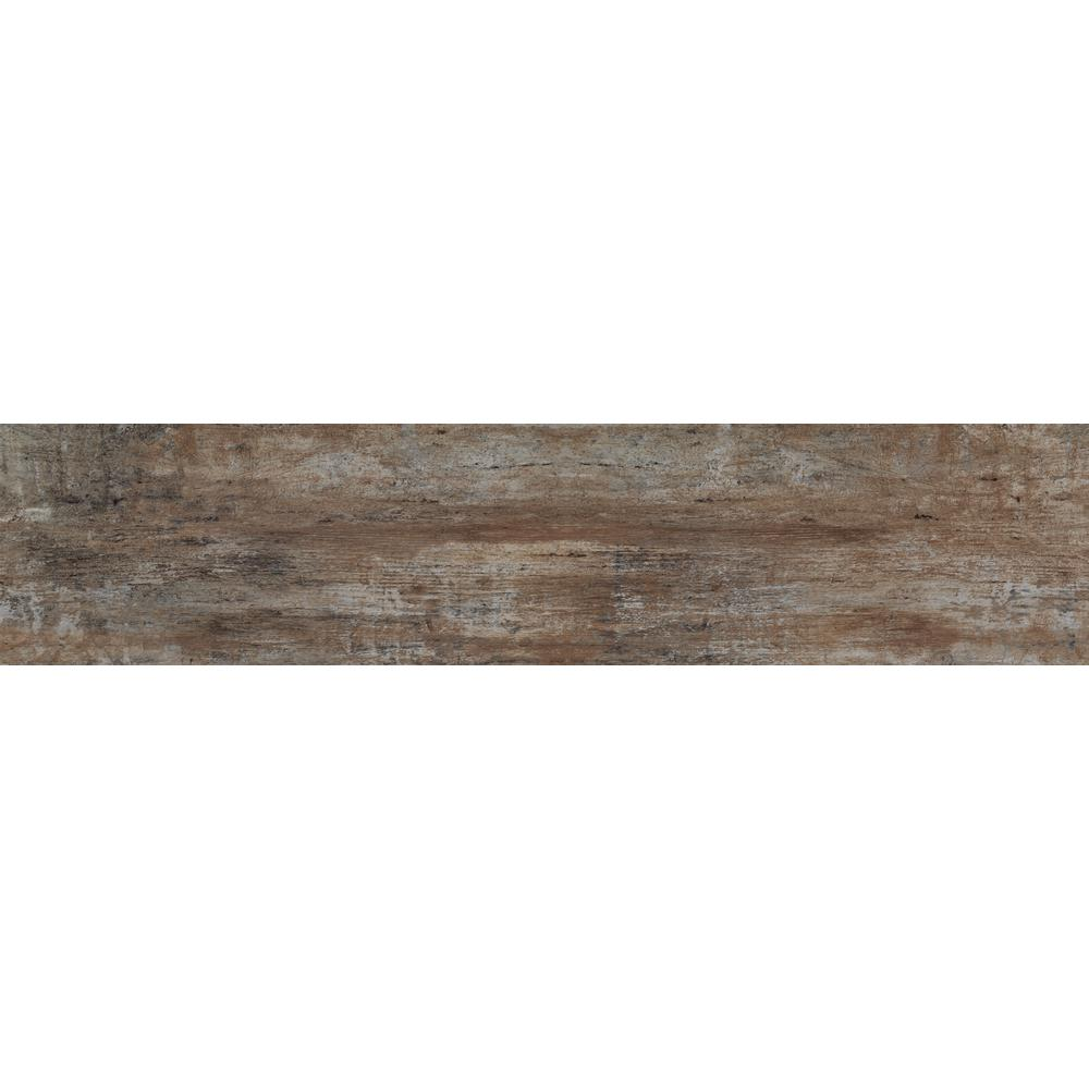 Florida Tile Home Collection Woodshop Umber 8 in. x 36 in. Porcelain ...