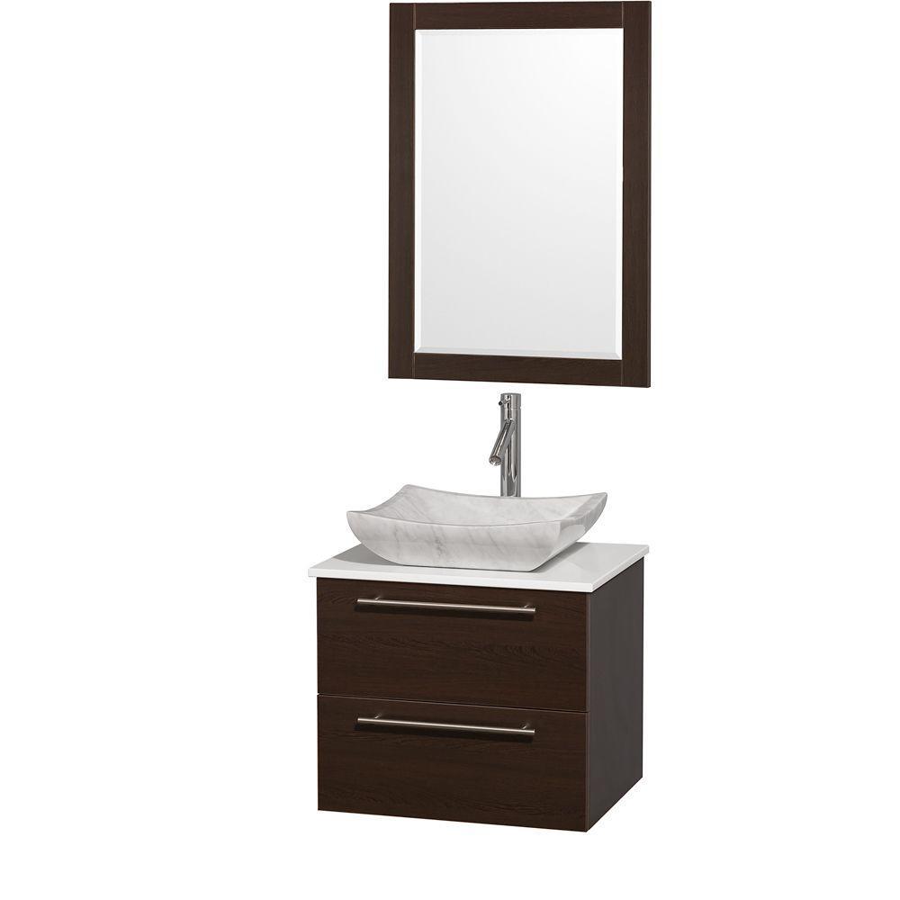 Vanity Gray Glass Vanity Top Green Black Basin Mirror pic 1620