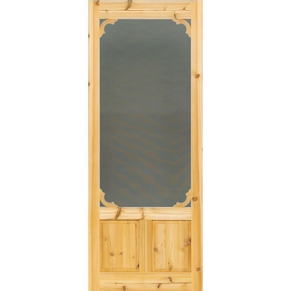 30 in. x 80 in. Woodland Cedar Screen Door