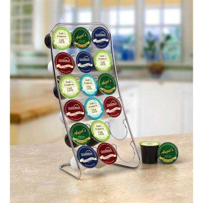 12.75 in. H x 6.5 in. W x 5.5 in. D Steel Easel 18-Cup Coffee Caddy