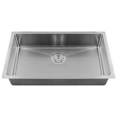 All-in-One Undermount Stainless Steel 18 in. Single Bowl Kitchen Sink