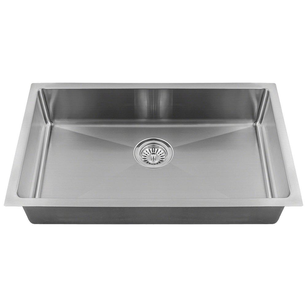 MR Direct All-in-One Undermount Stainless Steel 18 in. Single Bowl Kitchen  Sink