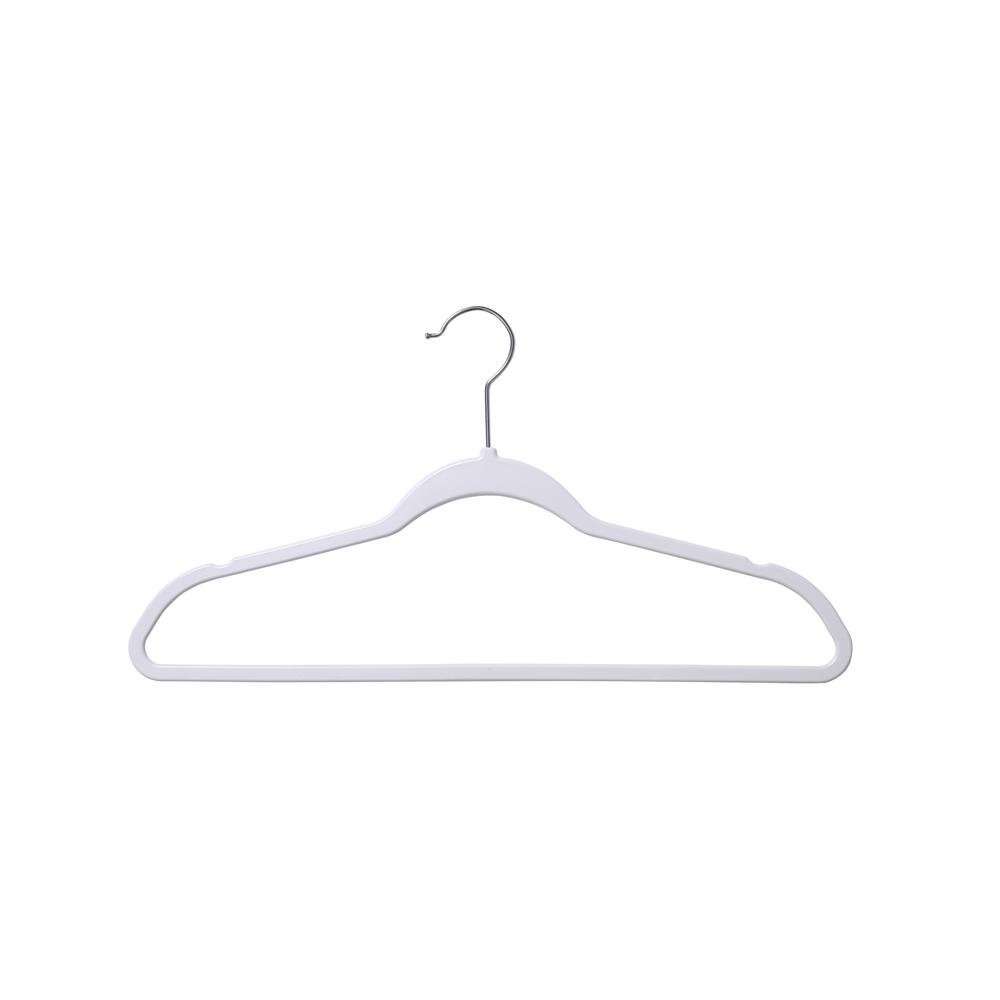 White Space Saving Suit Hanger (50 Pack)