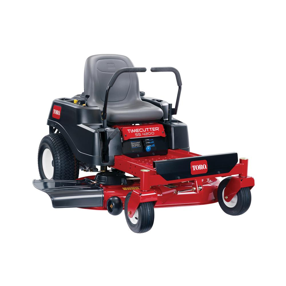 toro timecutter ss4200 42 in  452cc gas dual hydrostatic zero-turn riding  mower with