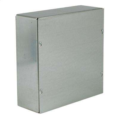 NEMA1 6 in. x 6 in. x 4 in. Galvanized No Knockouts Screw Cover Wall-Mount